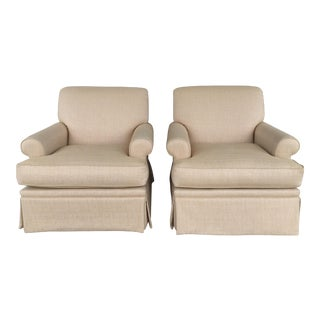 Patricia Edwards Jackson Swivel Arm Chairs - A Pair