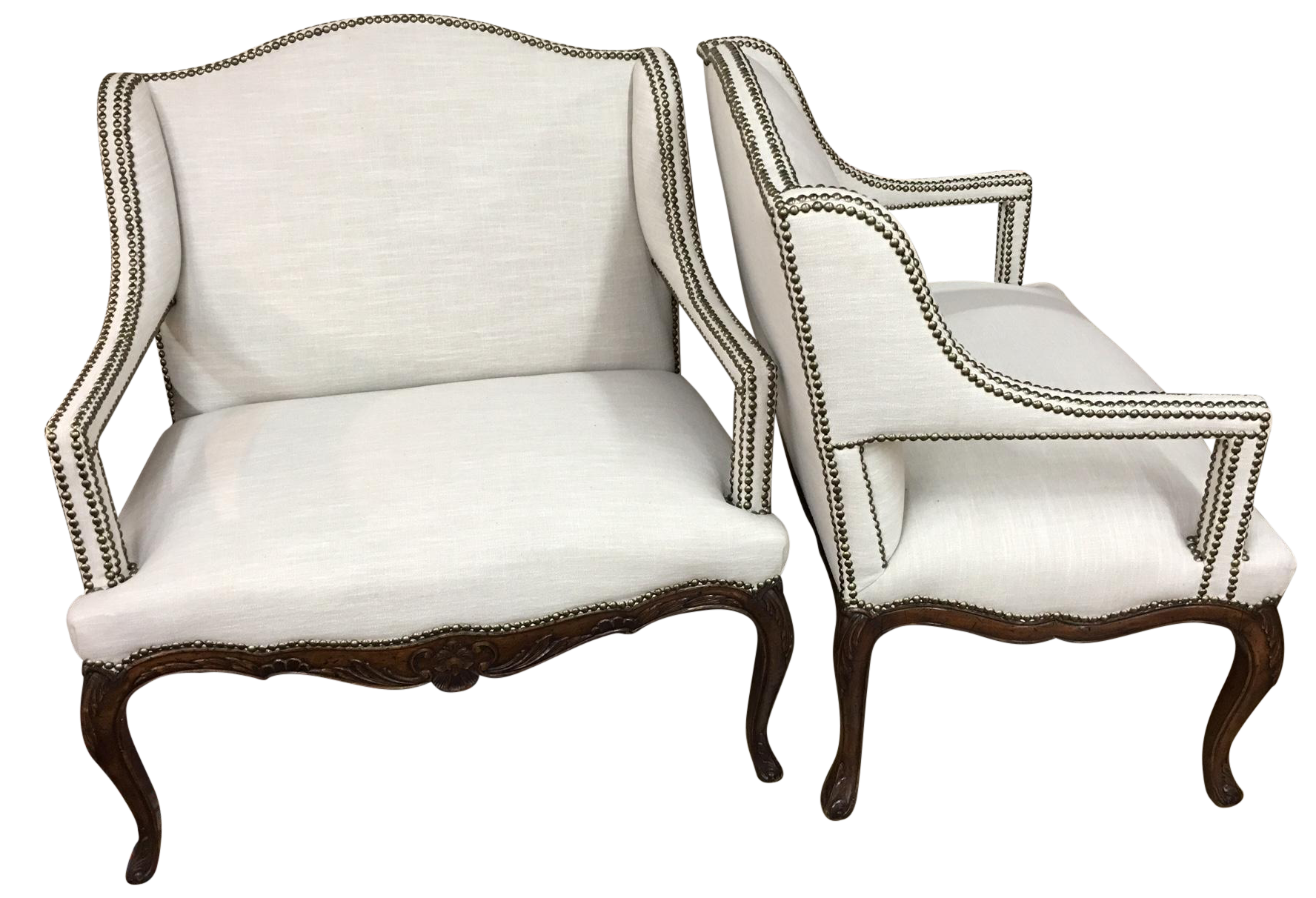 louis xv style fauteuil chairs a pair chairish
