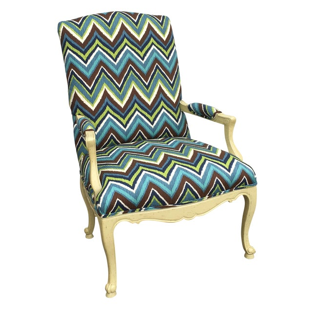 Missoni Style Print Accent Chair