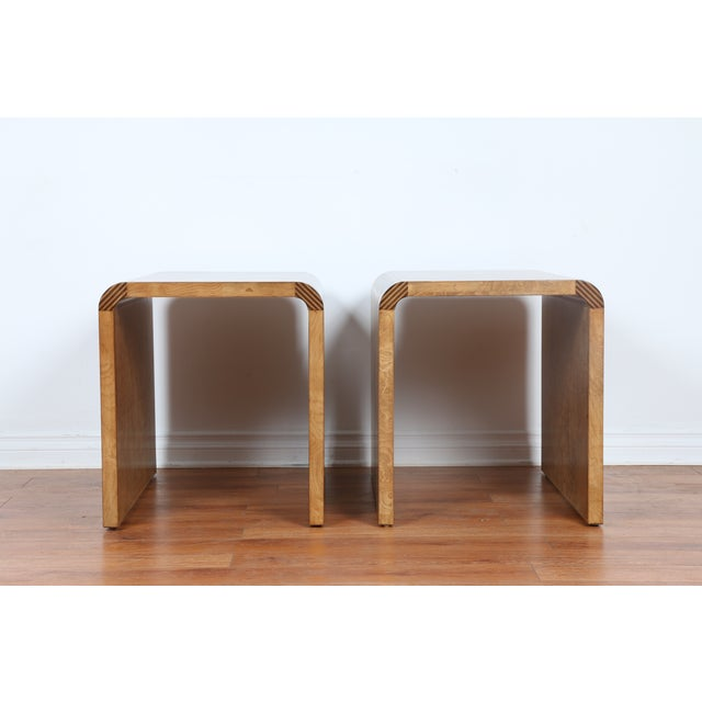 Mid Century Burlwood Nightstands - 2 - Image 3 of 9