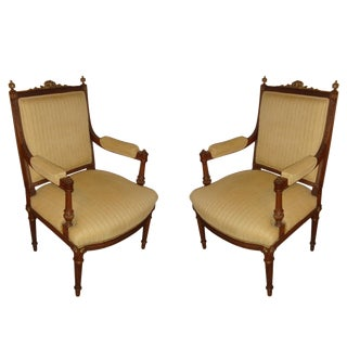Louis XVI Arm Chairs - A Pair