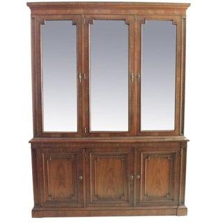 Kindel Fruitwood Breakfront Cabinet
