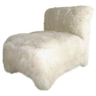 Vintage Slipper Chair in Sheepskin