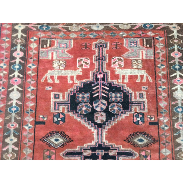 "Vintage Persian Rug 4'8""x 8'2"" - Image 5 of 7"