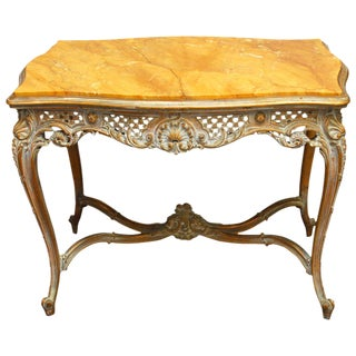 French Louis XV Marble-Top Table