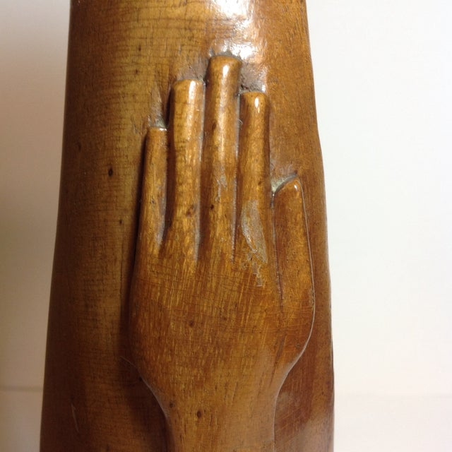 Mid-Century Carved Sculpture - Image 8 of 9