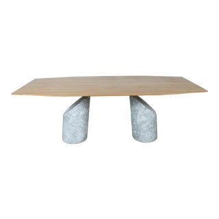 Italian Style Carrara Marble Twin Pedestal Conference Table