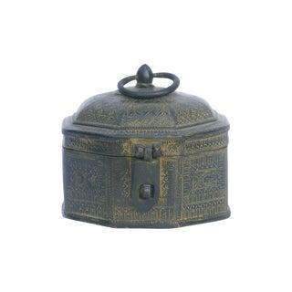 Decorative Octagon Brass Box