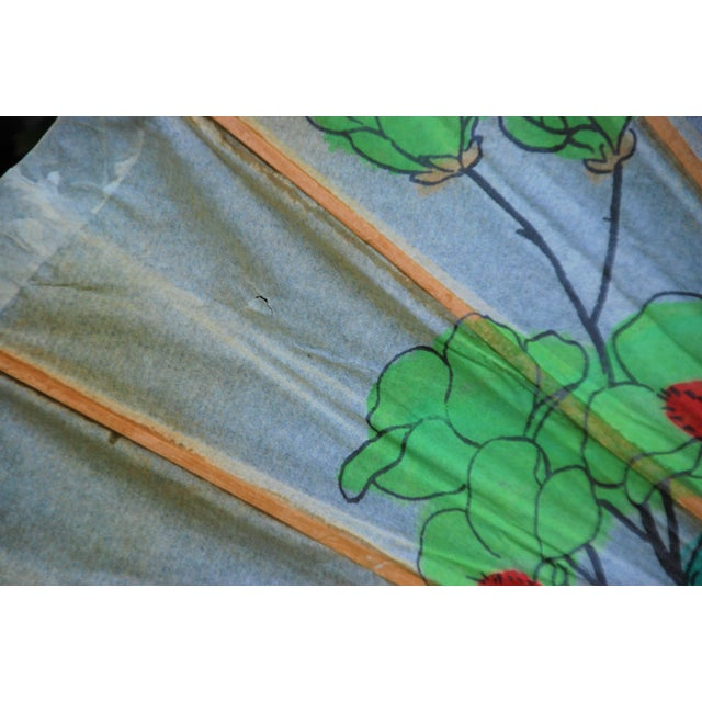 Vintage Asian Rice Paper Umbrella - Image 8 of 8