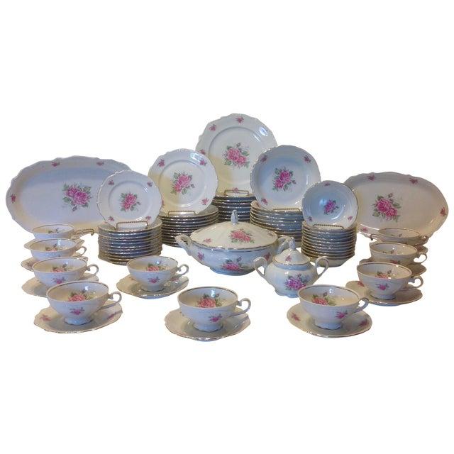Bavarian Pink Rose China Set - Set of 84 - Image 1 of 8