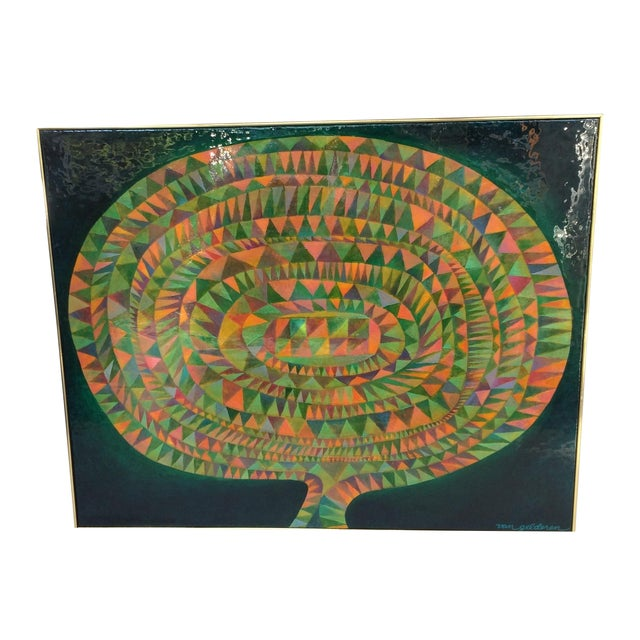 Large Mid-Century Modern Abstract Painting - Image 1 of 12