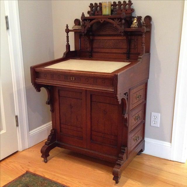 Antique Secretary Desk - Image 6 of 7