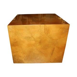 Karl Springer Mid-Century Goat Skin Tortoise Cube Table