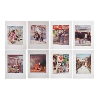 Antique Prints of Japan by M. Menpes - Set of 8