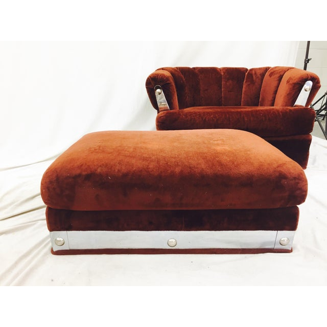 Vintage Mid-Century Modern Chair & Ottoman - A Pair - Image 5 of 11