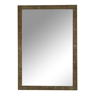 Contemporary Metal Framed Beveled Mirror