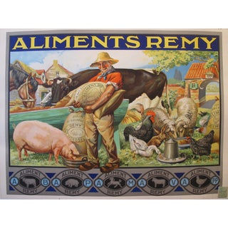 Vintage French Agricultural Poster, Aliments Remy