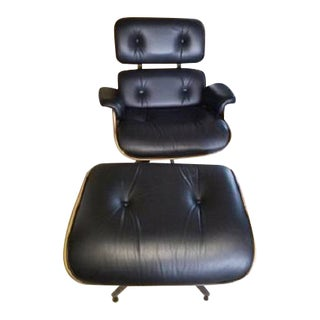 Eames Herman Miller Lounge Chair & Ottoman- Set of 2