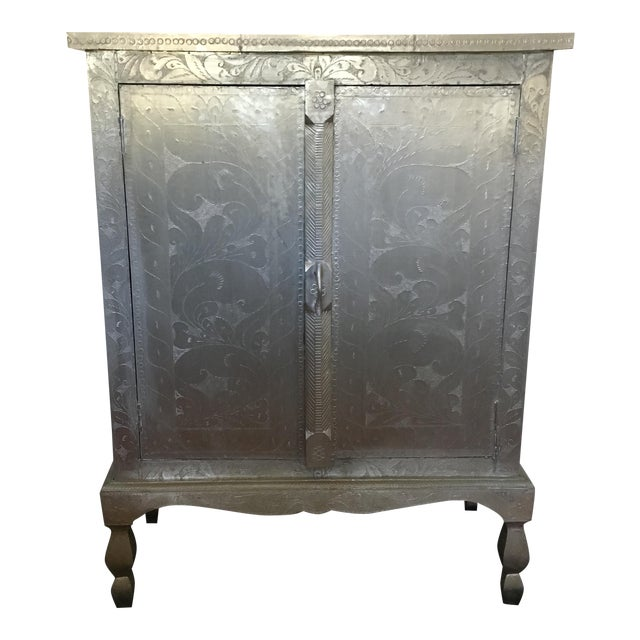 Image of Indian Silver Etched Cabinet