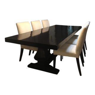 Custom Solid Hardwood Table & Chairs