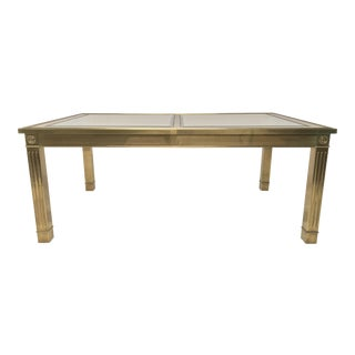 Mastercraft Style Brass Dining Table
