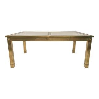 Mastercraft Style Brass Dining Table