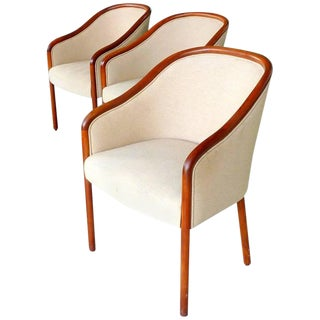Walnut Banker Chairs by Ward Bennett for Brickel