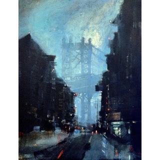 Night Bridge Acrylic Painting