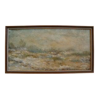 Mid-Century Abstract Desert Landscape Painting
