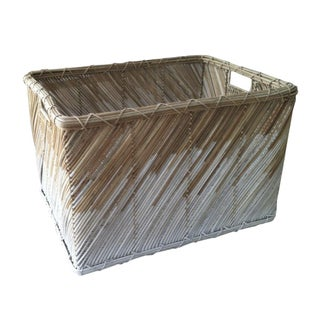 Modern Ombre Rectangular Wicker Basket