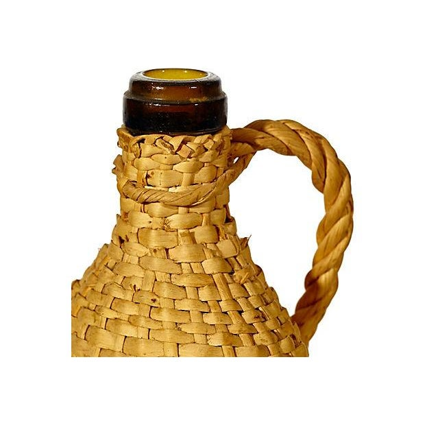 1950's Rattan-Wrapped Bottle - Image 3 of 3