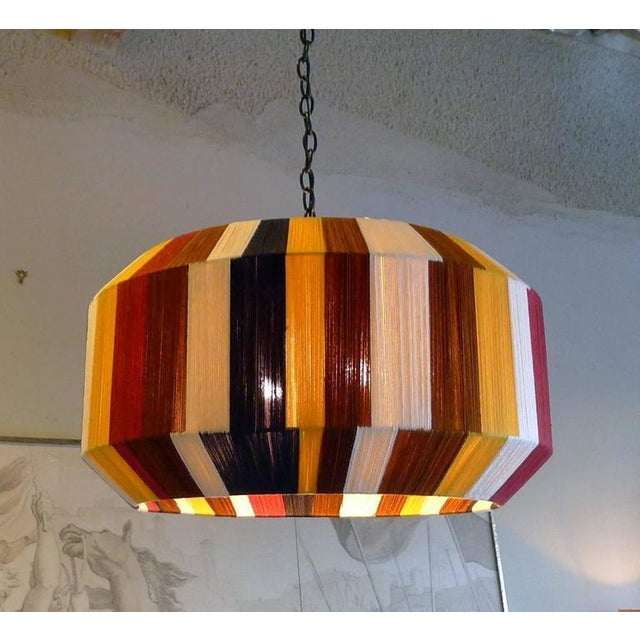 Customizable Paul Marra Large Sculptural Hand-Dyed String Pendant - Image 8 of 8