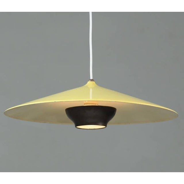 Early Gaetano Sciolari pendant in yellow and dark brass. Stilnovo, Italy, 1950s - Image 3 of 8