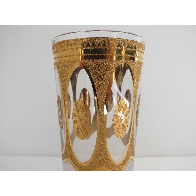 Vintage Hollywood Regency Gold Glasses - Set of 7 - Image 5 of 6