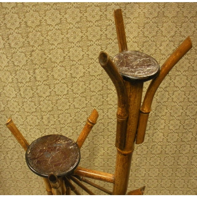 Antique Bamboo Plant Stand Aesthetic Movement - Image 6 of 8