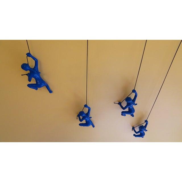 Blue Climbing Girl Wall Art - Image 5 of 8
