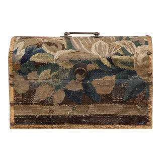 Bombe Wood Aubusson Tapestry Covered Trunk