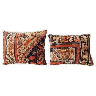 Ferahan Rug Fragment Pillows - Pair