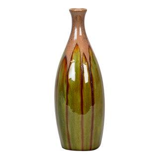 Brussels Slender Vase with Green Drip Glaze