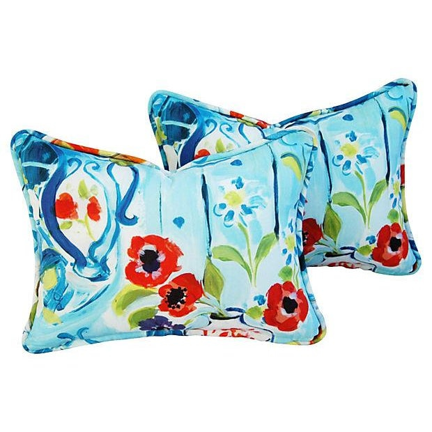 Designer Ronnie Gold Cezanne Style Pillows - Pair - Image 4 of 7