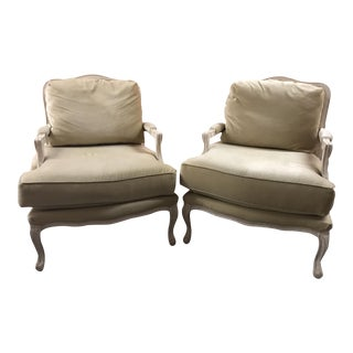 French Provincial Bergeres Chairs - A Pair