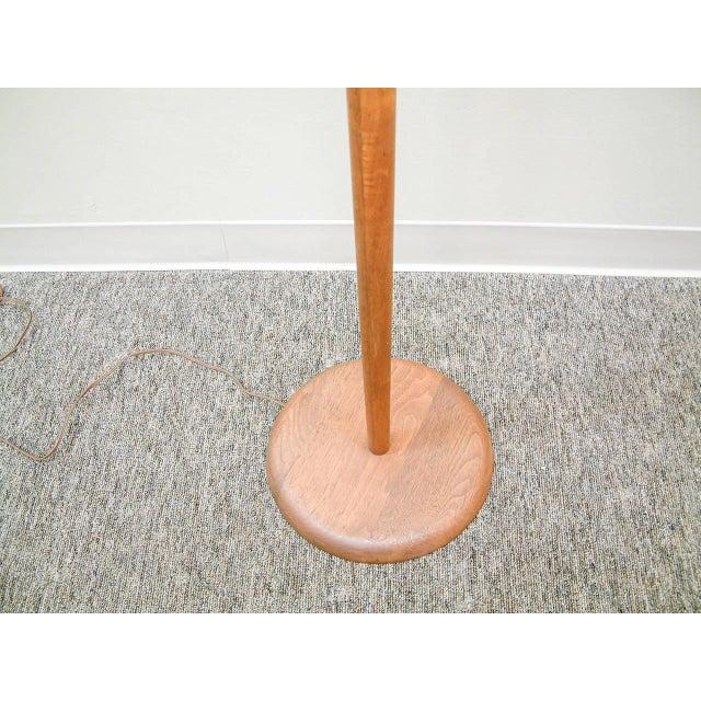 Walnut Floor Lamp Attributed to Vladimir Kagan - Image 5 of 7