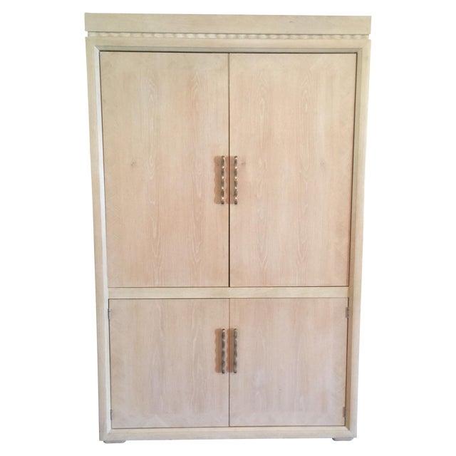 Image of Henredon Washed Oak Armoire