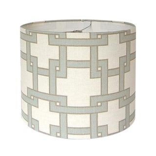 Portfolio City Misty Morn Square Fabric Drum Lamp Shade