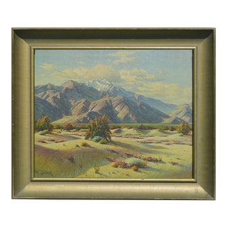 Desert & Snowy Mountains Framed Print