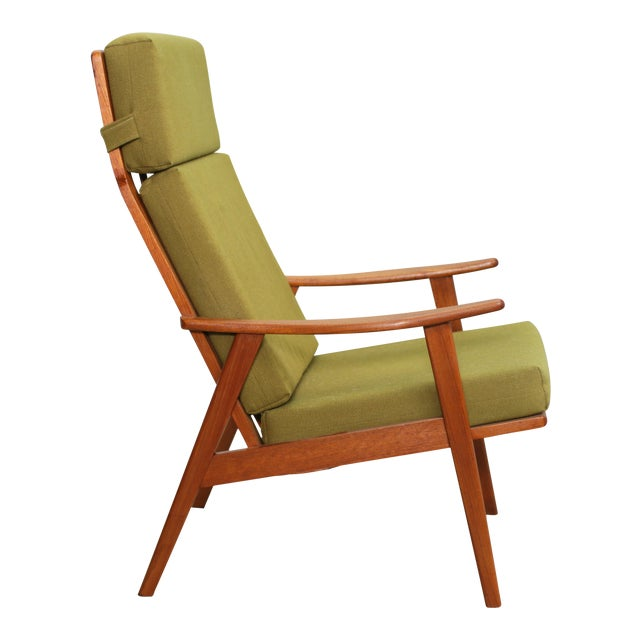 Image of Danish Modern High Back Arm Chair