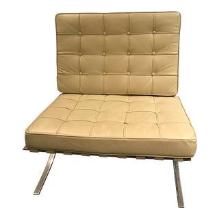Barcelona Inspired Ivory Chair