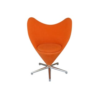 Verner Panton Style Swivel Heart Chair