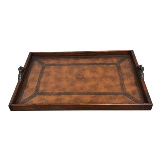 De Benedictus Wood & Leather Tray