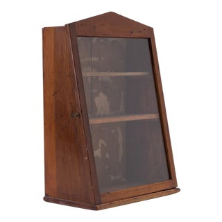 Handmade Antique Wood Display Cabinet